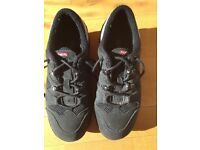Ladies MBT sport black leather & textile fitness walking shoes /trainers UK 5.5