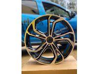 "18"" VW GOLF REIFNITZ STYLE ALLOY WHEELS AUDI A3 GOLF MK5 MK6 MK7 MK7.5"