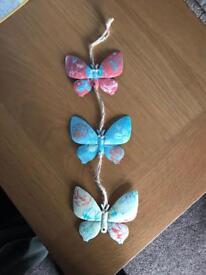 Metal hanging butterflys