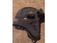 Kickers fur trimed winter hat. new.