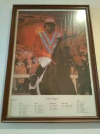 Lester Piggott framed picture