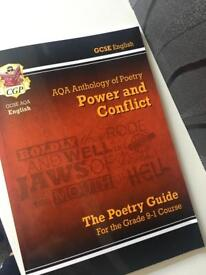 GCSE AQA ENGLISH anthology of poetry (power and conflict)