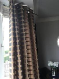 Next brown silk curtains