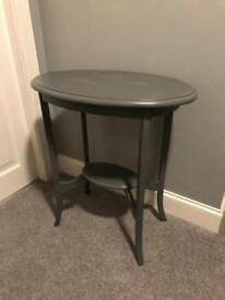 Annie sloan dark grey solid wood shabby chic lamp side coffee table
