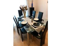 New Harveys Extendable Glass Table and 6 Chairs