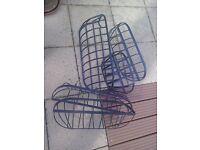 5 garden wall baskets