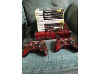 Xbox 360 Gears of War Edition + Controllers + Games