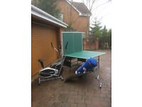 gift for all the family.table full size table tennis table,cross trainer,abbs bench, punch bag.
