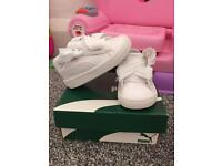 Puma heart patent white with pink laces included size uk 4 infant