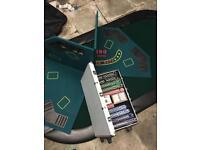 Poker set for pros, poker table tops + chips