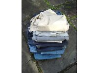 jeans trousers chinosjob lot bundle all good quality mens L or XL