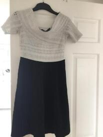 White and black size 10 dress from Dorothy Perkins