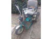 Mobility trike 50cc engine conversion running