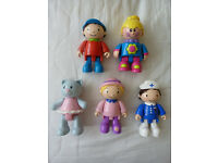 CHILDRENS TOLO TOY FIGURES x 5
