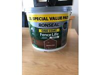 12 Ltr Ronseal one coat fence life