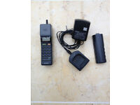 Sony CM H333 'mars bar' vintage analogue phone complete with charger and spare battery