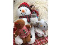 Christmas teddies bundle x 5 gingerbread snowman angel