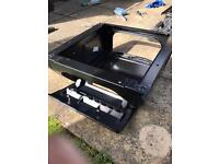 VW T4 seat base with battery tray