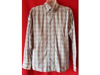 Stunning Mens Designer Two Stoned Muscle Fit Shirt Size M BNWOT