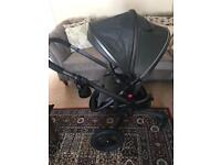 Silver Cross Surf elevation pushchair and accessories.