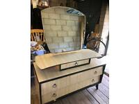 Art Deco style Dressing Table, with mirror