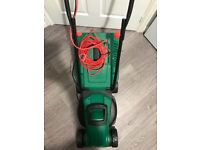Qualcast 1300w rotary lawnmower electric twin pack with grass trimmer in excellent condition