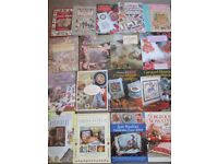 JOB LOT 18 CROSS STITCH BOOKS-STORYBOOK CHARACTERS/CUTE/GIFTS/FLORAL-GOOD USED-COLLECT ONLY BENFLEET
