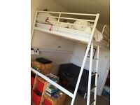 Ikea space saver loft bed, with ladders Width 146cm Length 206cm & Height 205cm