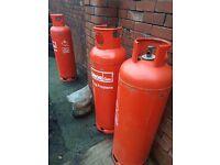 Empty gas bottles 3x20kg