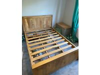 Solid Mango Wood Double Bed (Frame only) in very good condition (Oakfurniture Land)