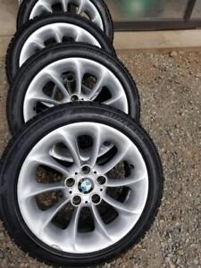 LIKE NEW BMW Z4 ROADSTER MINERVA HIGH PERFORMANCE WINTER TIRES 225 / 45 / 17 ON OEM BMW ALLOY WHEELS