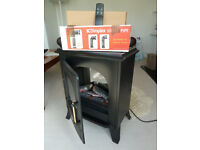 Dimplex MON20R electric stove in good working condition with remote and pipe