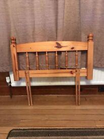 Single Pine Bed Headboard