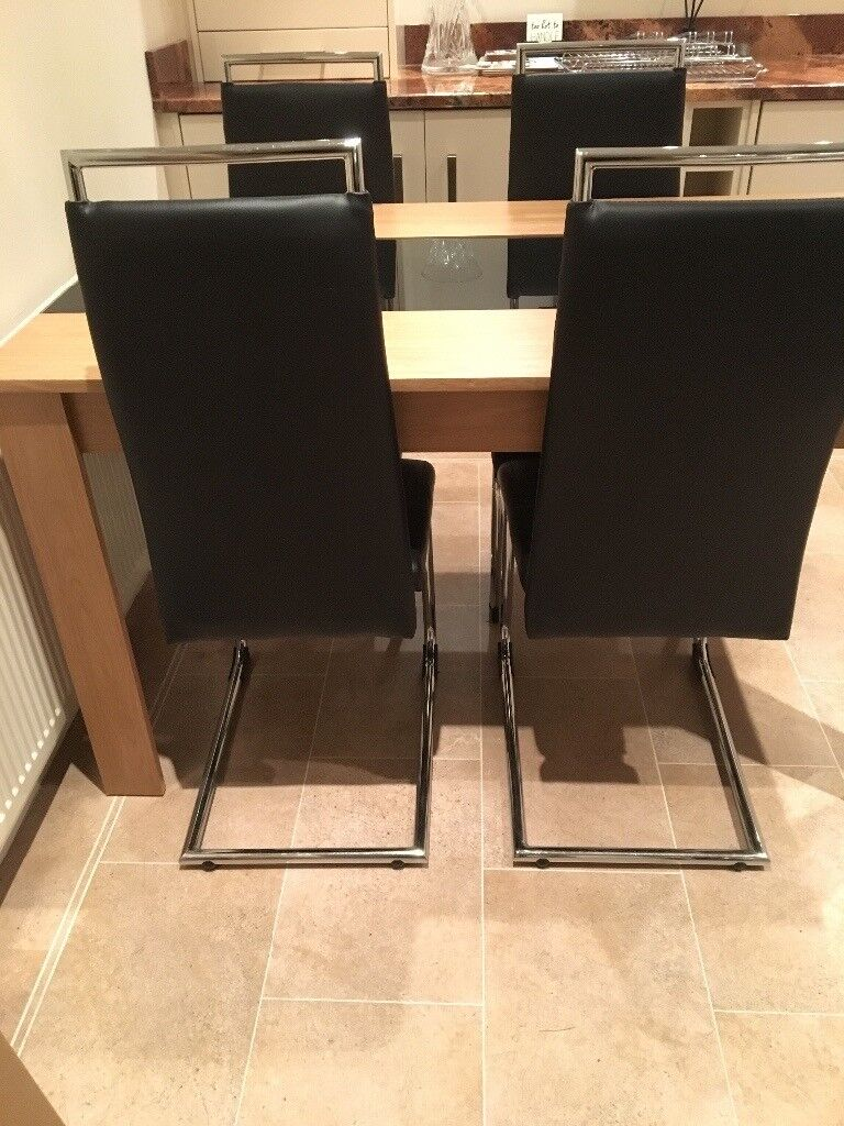 Now Sold Hygena Cantilever Dining Chairs Black