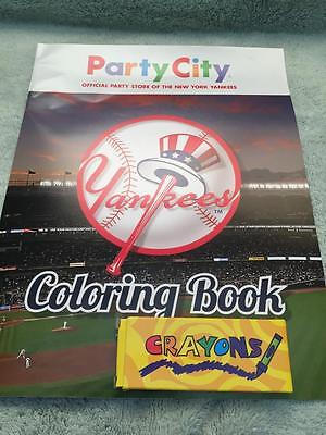 NEW YORK YANKEES NY COLORING BOOK PARTY CITY W/CRAYONS SGA 2016 YANKEE STADIUM (Party City Ny)