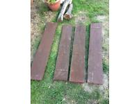 4 scaffold boards - raised bed