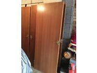 2x Wooden interior doors