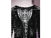 Heavy 'lacey' evening cardy
