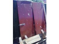 doors x2 hardwood solid not hollow used