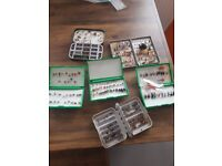 collection of trout flies,