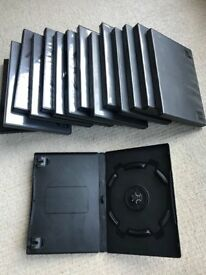 15 x Blank DVD Cases - black + dark grey