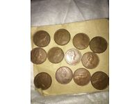 12x 2p New pence coins