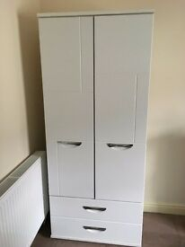 Wardrobe with Drawers - White - Myra - bought pre-assembled Good quality Not Flatpack