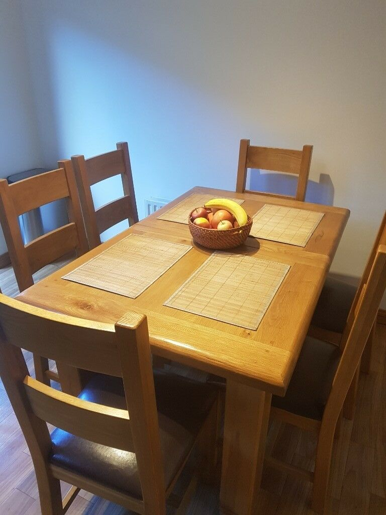 Belfast Kitchen /dining Table With 6 Chairs