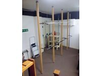 RETAIL DISPLAY SHOP FITTING SYSTEM (CANTEL) 6 UPRIGHTS, 5 BAYS