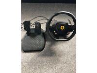 Xbox 360 Thrust master Ferrari steering wheel and pedals