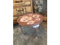 Upcycled flower table