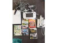 Nintendo Wii U 3 controllers and games