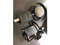 SONTRONICS SATURN Microphone with case and shock mount in excellent condition