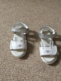 Clarks sandals junior size 8
